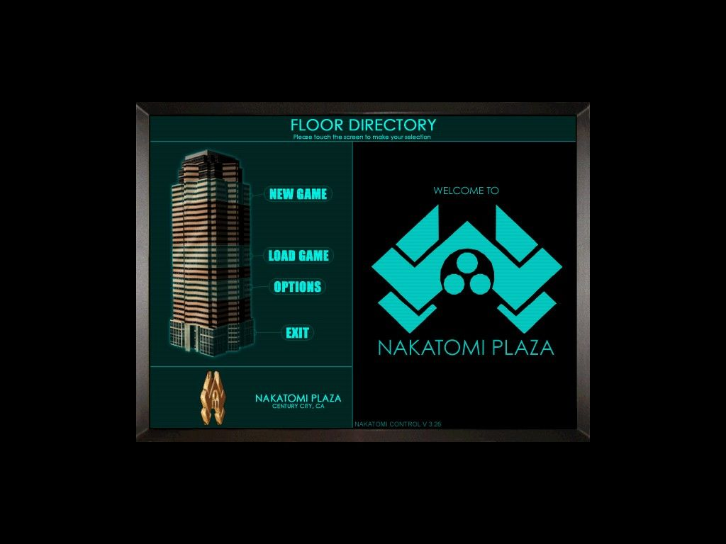 Die Hard: Nakatomi Plaza Windows Main menu