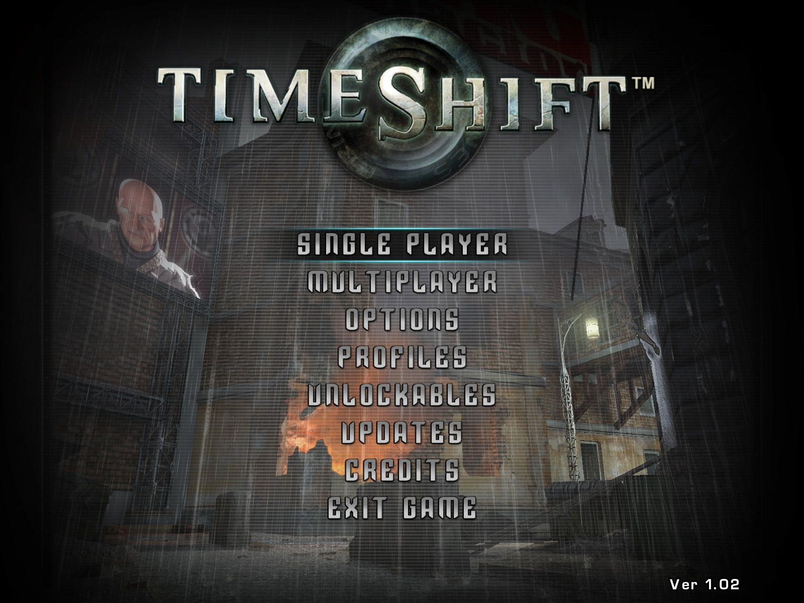 TimeShift Windows Main menu
