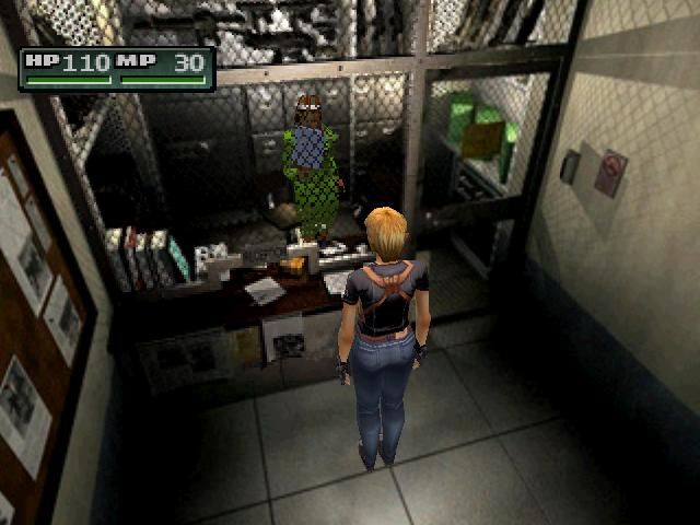 Parasite Eve II PlayStation Buying a weapon
