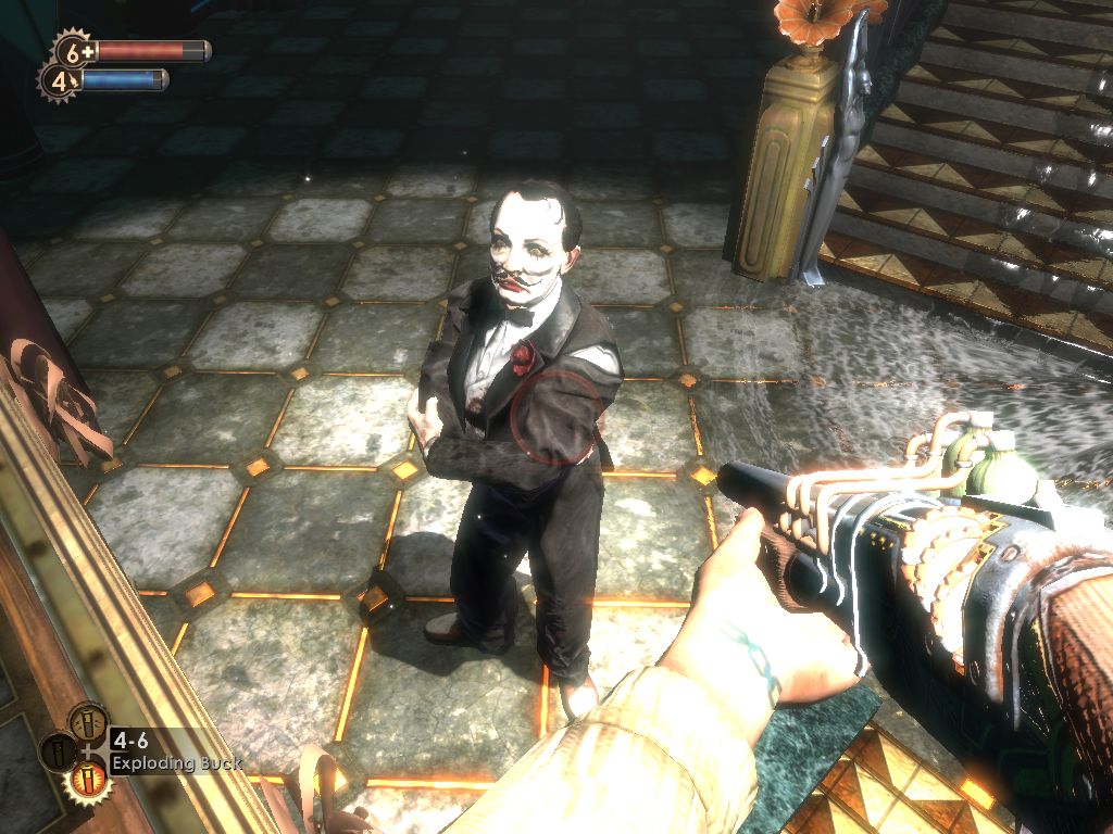 BioShock Windows Cohen, probably the creepiest guy in Rapture. And you must help him complete his so dearly masterpiece
