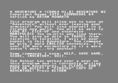 Secret Mission Commodore 64 Introduction