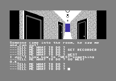 Secret Mission Commodore 64 In a corridor