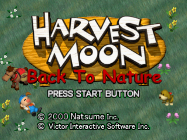 Harvest Moon: Back to Nature PlayStation Title screen