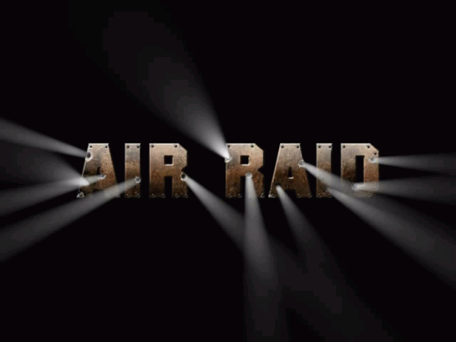 Air Raid: This is Not a Drill Windows Title screen