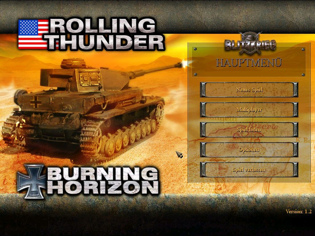 Blitzkrieg Anthology Windows Anthology Add-Ons - Main Menu