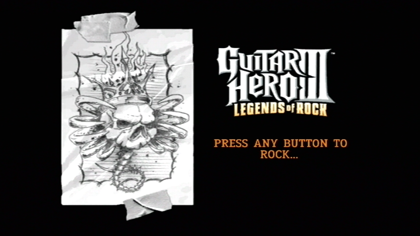 Guitar Hero III: Legends of Rock Wii Title screen
