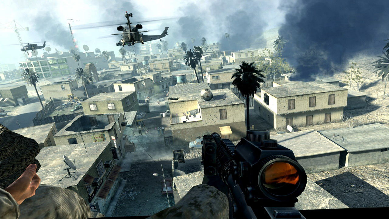 Call of Duty 4: Modern Warfare Windows The game excels in the graphics department as the beautiful 3D modeling combined with the real-time rendering and dynamic lighting produces stunning visuals.
