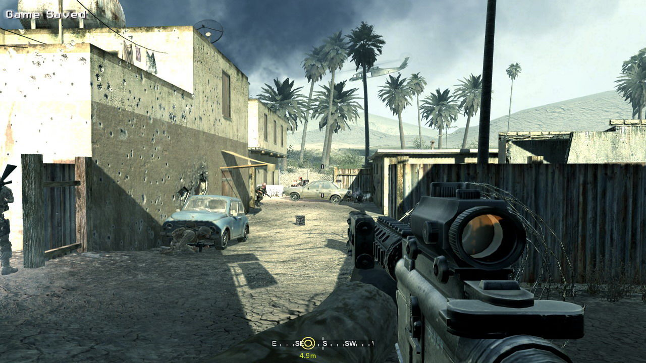 Call of Duty 4: Modern Warfare Windows Bogey at my 12, time to waste'em bad terrorists... Hoorah!