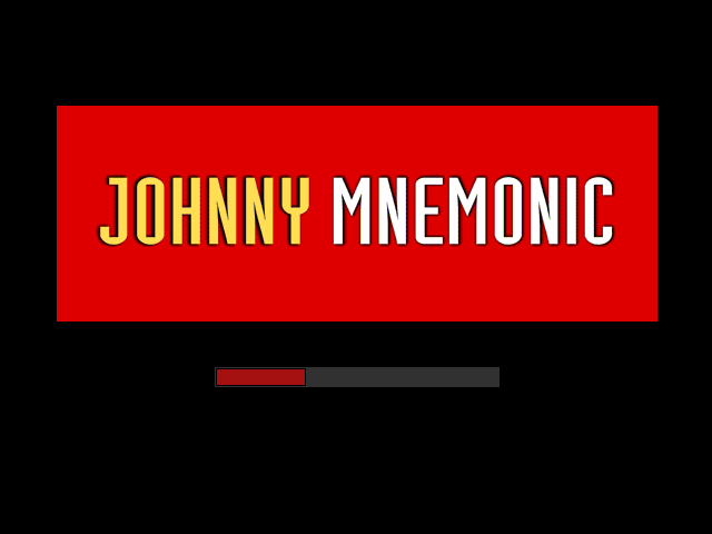 Johnny Mnemonic Windows 3.x Loading screen