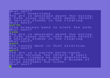 Adventure Quest Commodore 64 That stream must have been contaminated