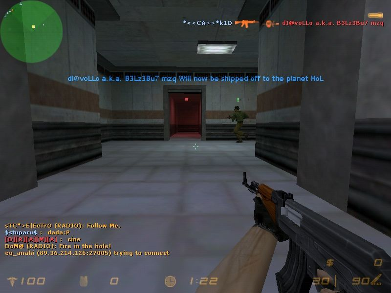 Half-Life: Counter-Strike Windows Playing with a AK-47.