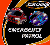 Matchbox: Emergency Patrol Game Boy Color Title screen
