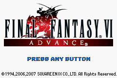 Final Fantasy III Game Boy Advance Title screen