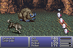 Final Fantasy III Game Boy Advance The Mogs are fighting.