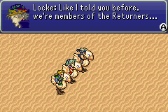 Final Fantasy III Game Boy Advance Escaping with the chocobos.