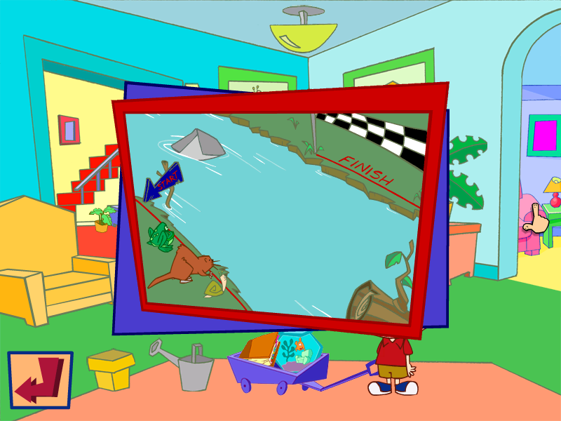 Playhouse Disney's Stanley: Wild for Sharks! Windows Pick the fastest animal then watch the race to see if you were correct