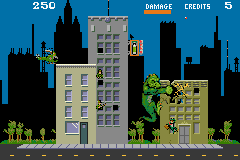 PaperBoy / Rampage Game Boy Advance Rampage: some buildings are electrified.