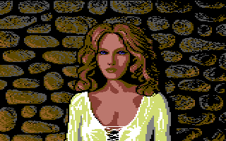 Defender of the Crown Commodore 64 The Saxon lady Rosalind.