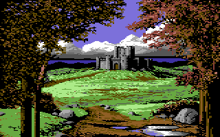 Defender of the Crown Commodore 64 A Saxon castle.