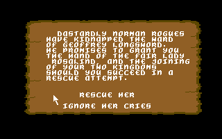 Defender of the Crown Commodore 64 A Saxon maiden has been kidnapped!