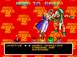 World Heroes 2 Neo Geo We don't need the D button!