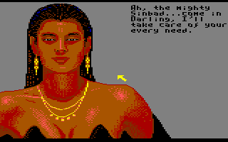 Sinbad and the Throne of the Falcon Commodore 64 Do you trust her?