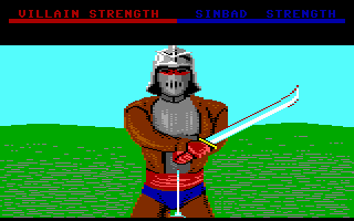 Sinbad and the Throne of the Falcon Commodore 64 The black prince. This guy looks like Darth Vader!