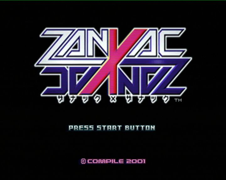 Zanac X Zanac PlayStation Start screen