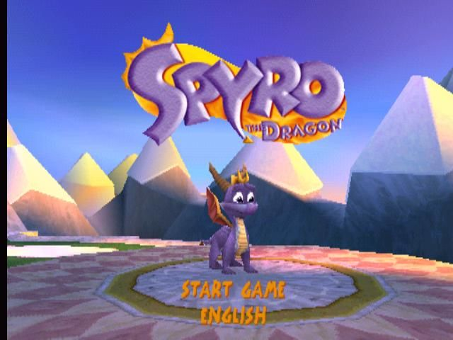 Spyro the Dragon PlayStation Title screen