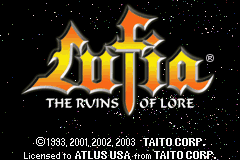 Lufia: The Ruins of Lore Game Boy Advance Title Screen