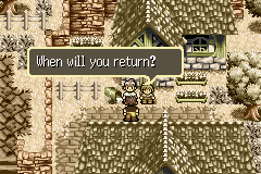 Lufia: The Ruins of Lore Game Boy Advance Rand is leaving in the introduction
