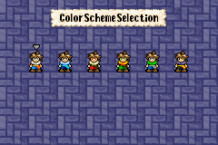 Lufia: The Ruins of Lore Game Boy Advance Color Scheme Selection
