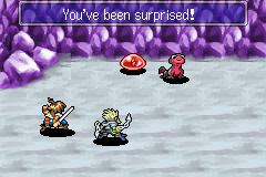 Lufia: The Ruins of Lore Game Boy Advance Start of the battle