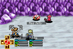 Lufia: The Ruins of Lore Game Boy Advance Selecting the actions during battle