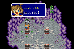 Lufia: The Ruins of Lore Game Boy Advance Acquiring different useful items (Cave Disk, this time)
