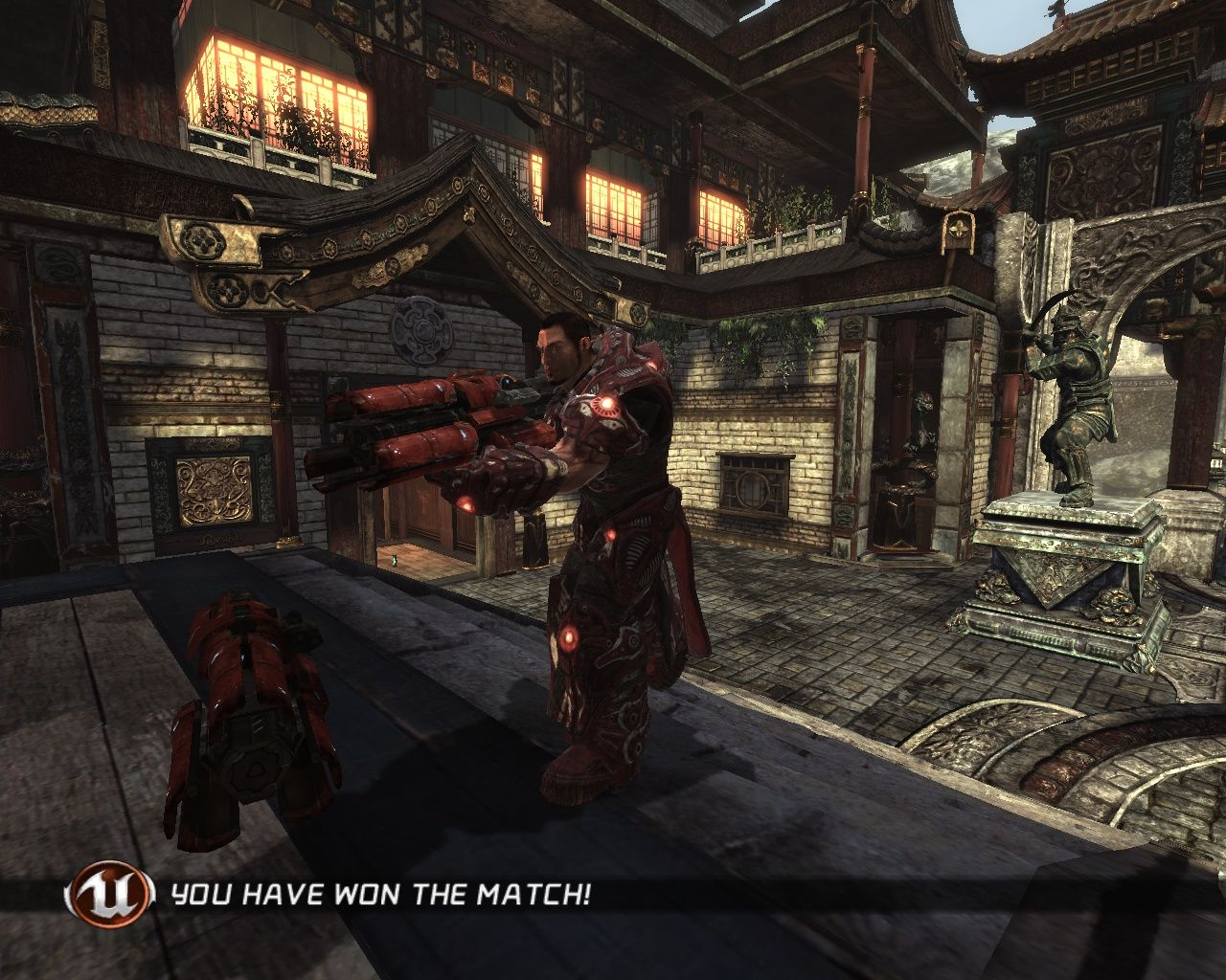 Unreal Tournament III Windows I've won the match (did anyone doubt me?).