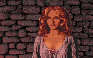 Defender of the Crown Atari ST A Saxon lady.