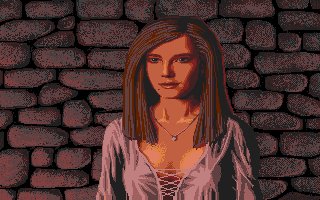 Defender of the Crown Atari ST The Saxon lady Rebecca.