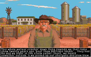 It Came from the Desert Amiga A farmer.