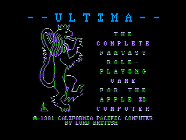 Ultima Apple II Title screen