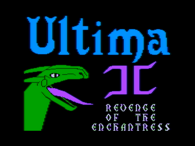 Ultima II: The Revenge of the Enchantress... Apple II Title screen
