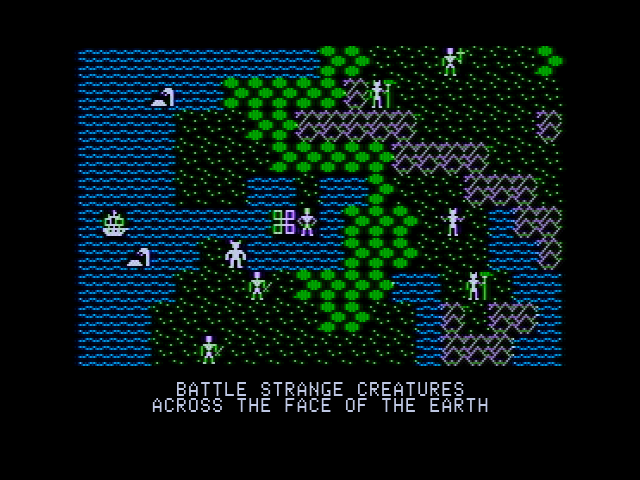 Ultima II: The Revenge of the Enchantress... Apple II Sosaria surface