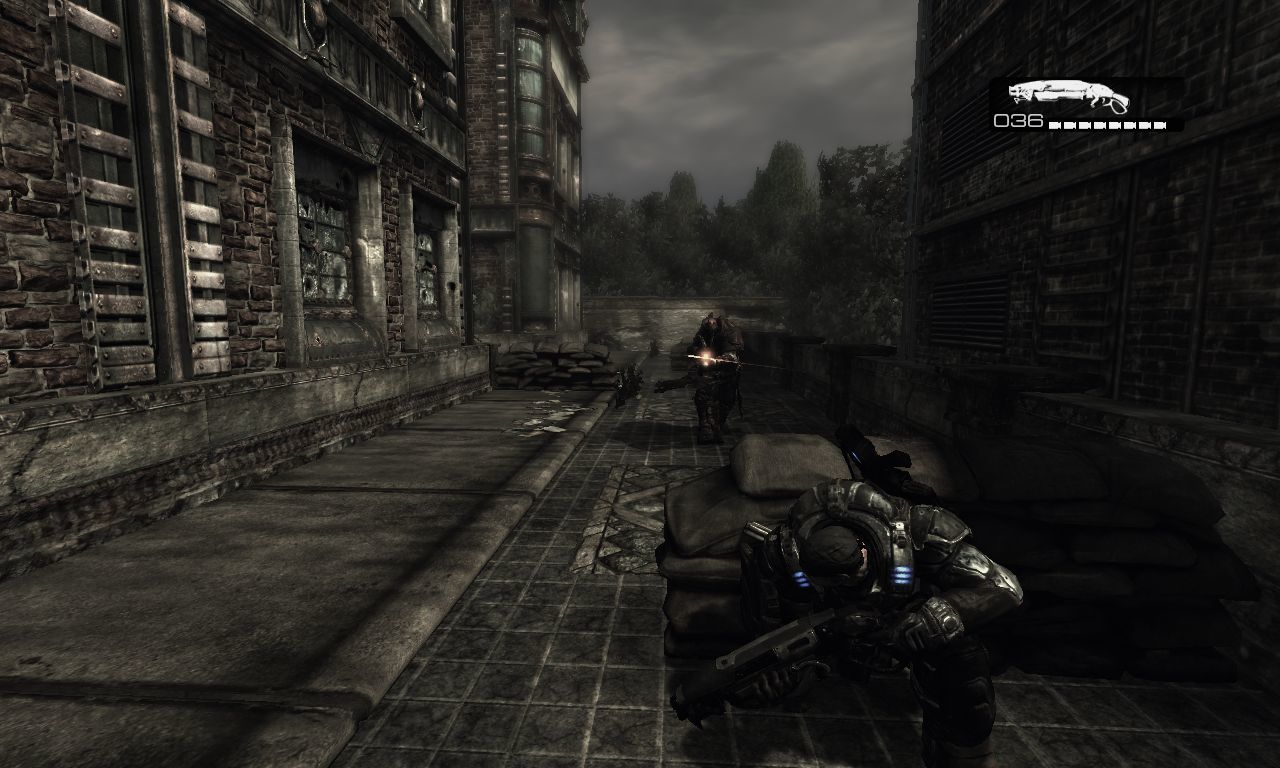 Gears of War Windows Therion Guards are probably the toughest.
