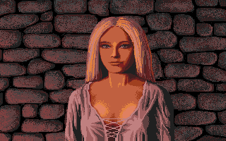 Defender of the Crown Atari ST You have rescued the Saxon lady Anne and now she is madly in love with you.