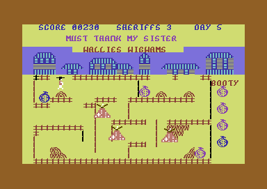 Bandana City Commodore 64 No, you can't enter that building