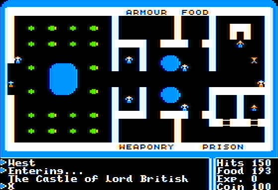 Ultima I: The First Age of Darkness Apple II Castle