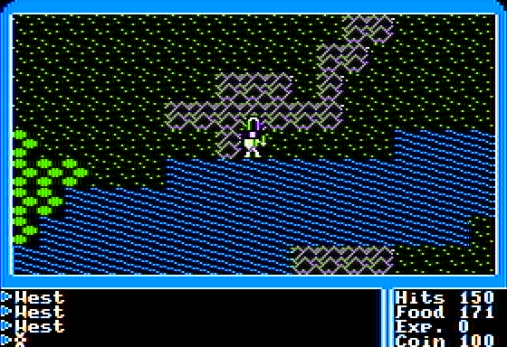Ultima I: The First Age of Darkness Apple II Outside a dungeon