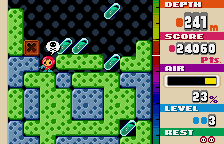 Mr. Driller WonderSwan Color Need air! Or death shall soon be Mr. Driller's fate.