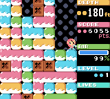 Mr. Driller Game Boy Color I've gotten a little ways in.