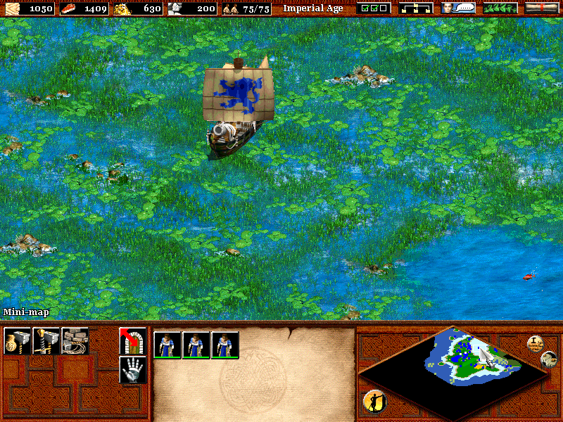 Age of Empires II: The Age of Kings Windows A ship in the shallows